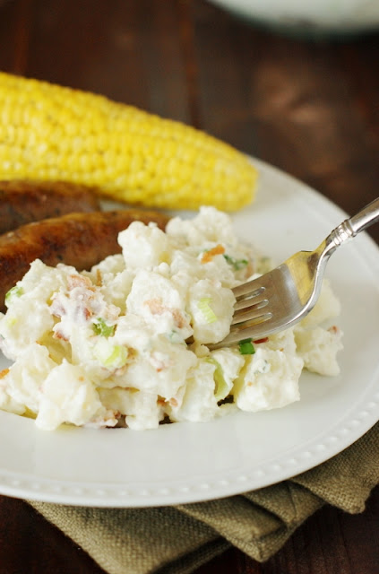 Easy Bacon & Blue Cheese Potato Salad