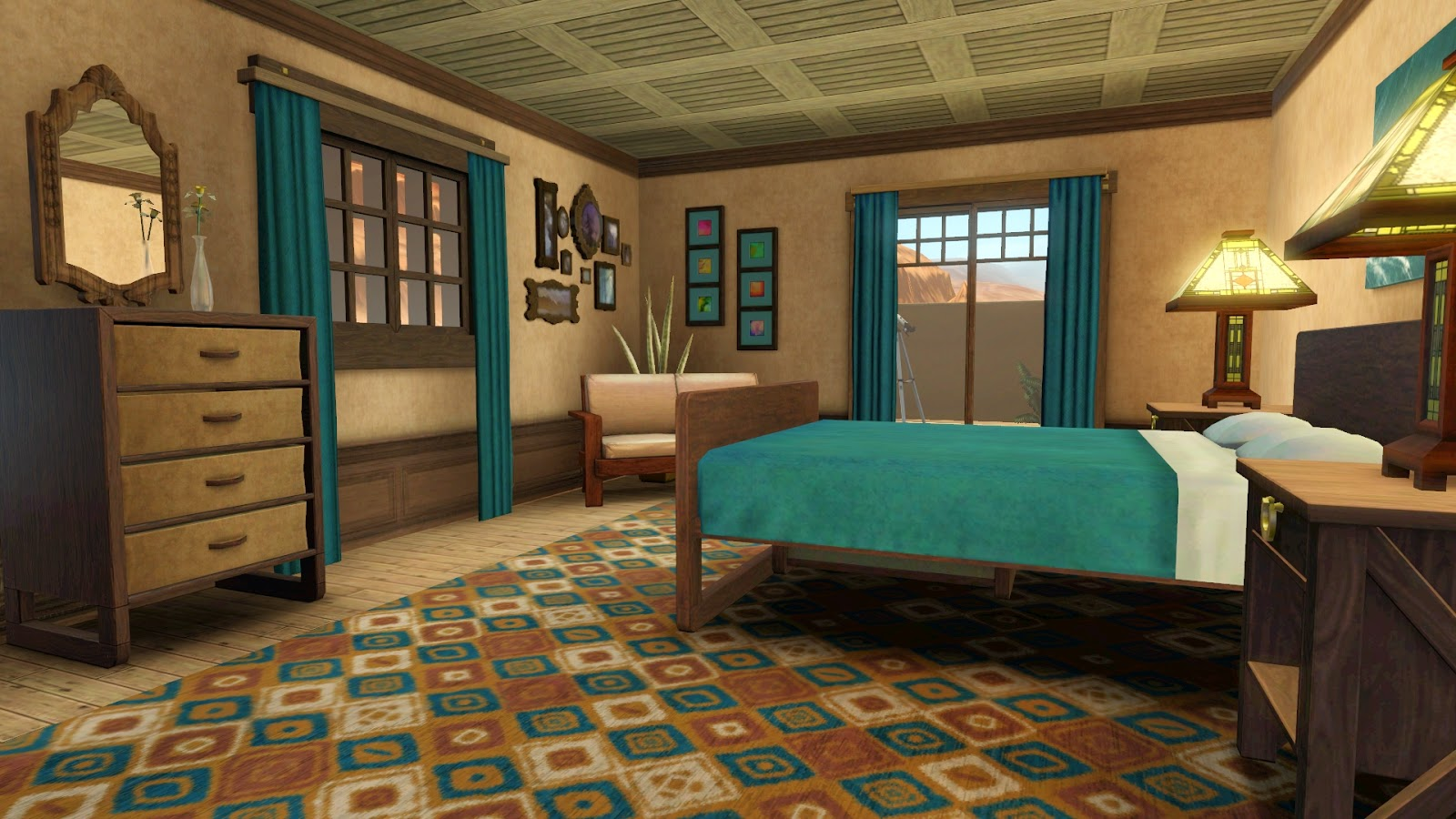Simply ruthless santa fe sunrise for Sims 3 master bedroom ideas