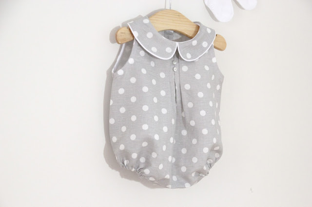 Tutorial y patrones ropa para bebe: Pelele o ranita de lunares para bebe DIY. Blog costura y blog diy