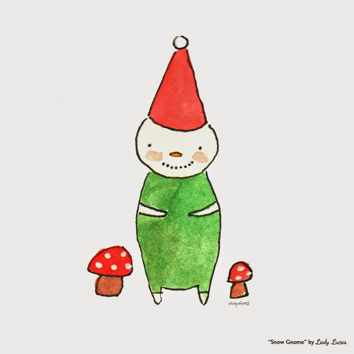 Snow Gnome by Lady Lucas | #25DaysofSnowmen