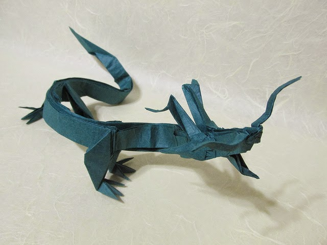 Modular Origami Chinese Dragon Art Stock Images