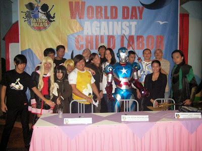 Trisha Sebastian | Cosplayers in World Day against Child Labor with Paul Simbul
