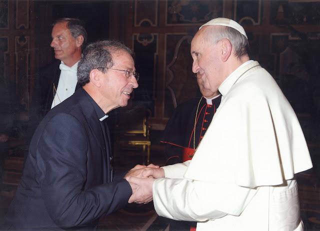 Anastasio Gil con el Papa Francisco. Nombramiento de Anastasio Gil como director nacional de OMP España