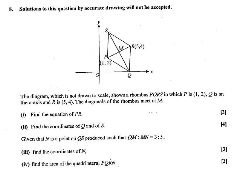 Level Maths: Q8. Coordinate Geometry - Challenging O Level