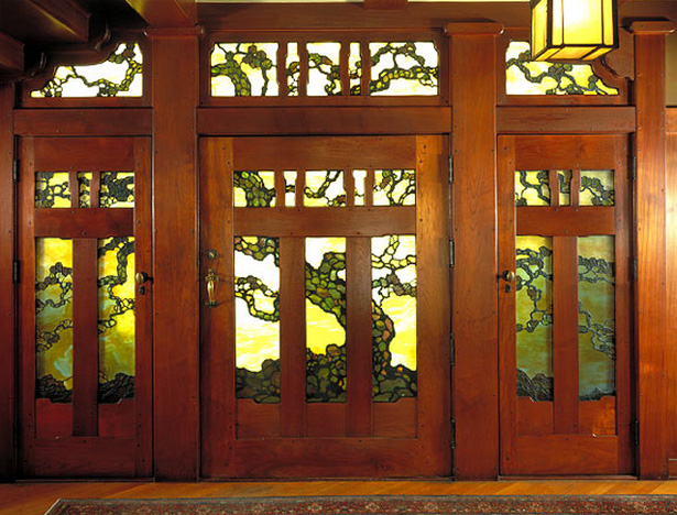 Craftsman Style Stained Windows