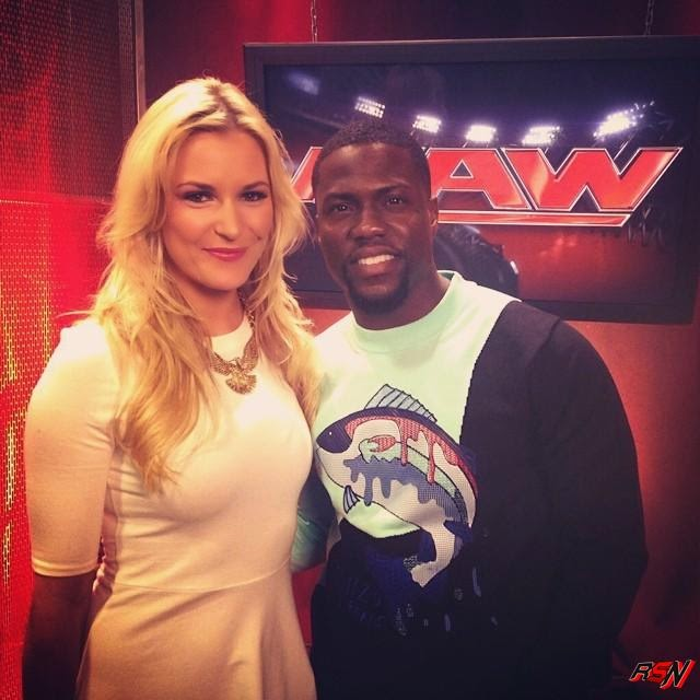 Renee Backstage at RAW with Kevin Hart.