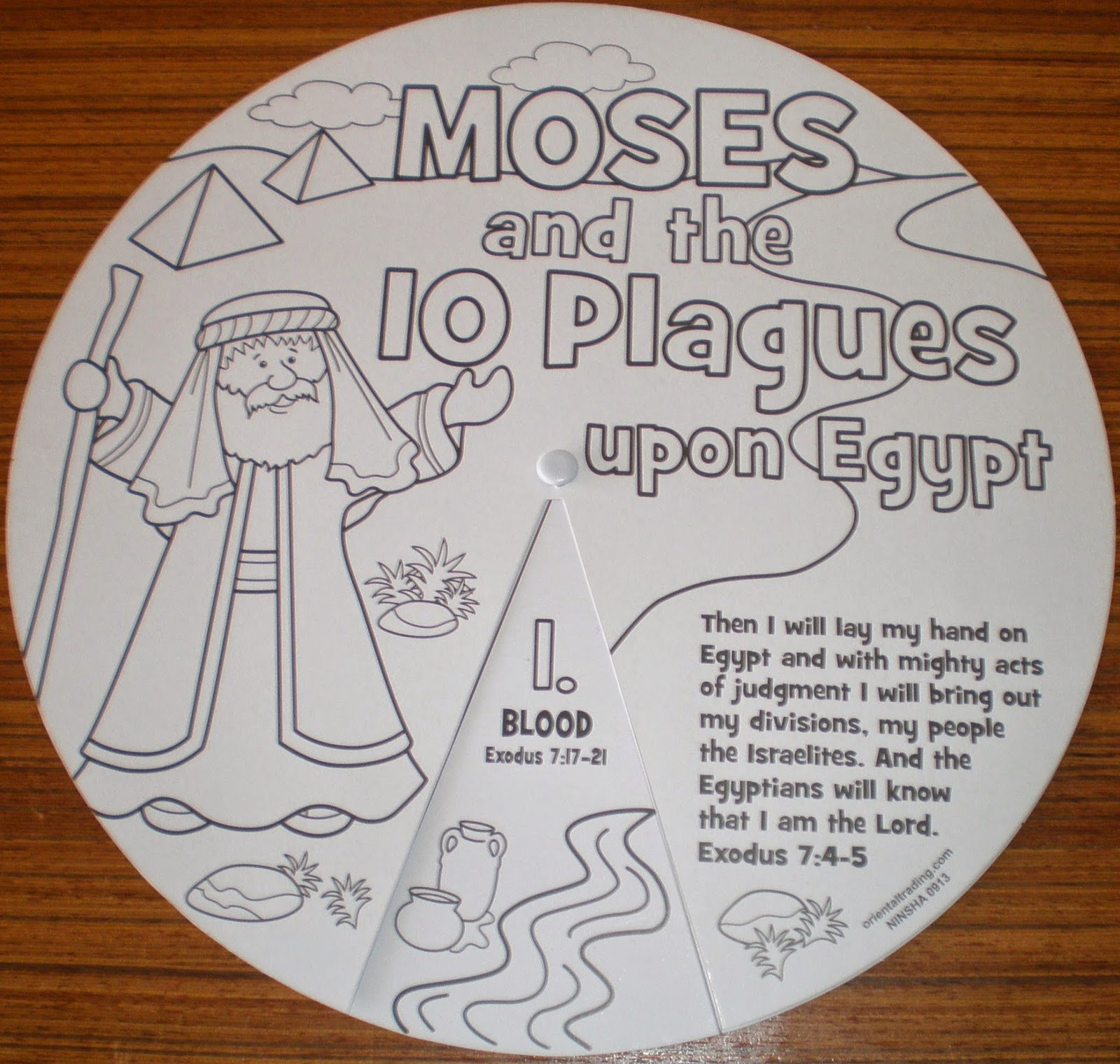 Colour And Learn The 10 Plagues In Egypt Scripture References For Each Plague