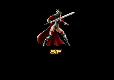 Sif from Marvel Avengers Alliance wallpaper