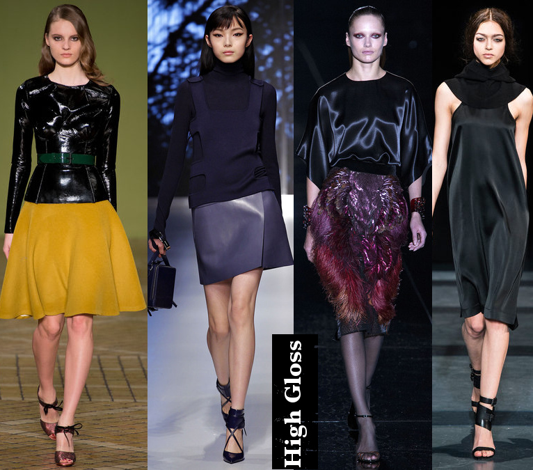 Women's Fall 2013/2014 Trends- High gloss fabrics