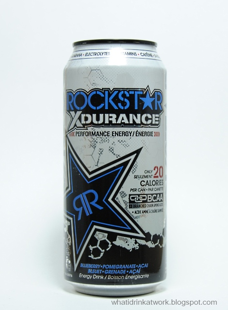 what i drink at work rockstar xdurance energy drink review. Black Bedroom Furniture Sets. Home Design Ideas