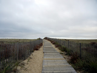 Boardwalk to Sagamore Beach in Massachusetts