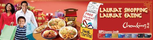 BPI Chowking Meals Free, chowking, BPI