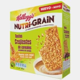 Nutri-Grain de Kellogg's tostas crujientes de cereales avena con miel