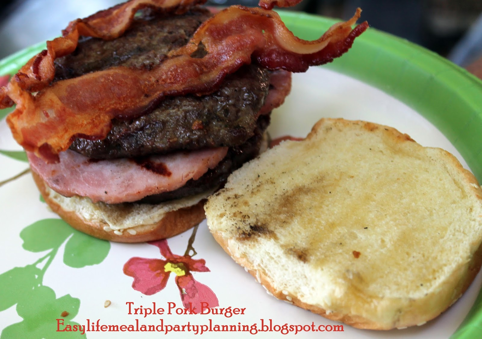 - Grilled Triple Decker Pork Burger - You can't beat a grilled ...