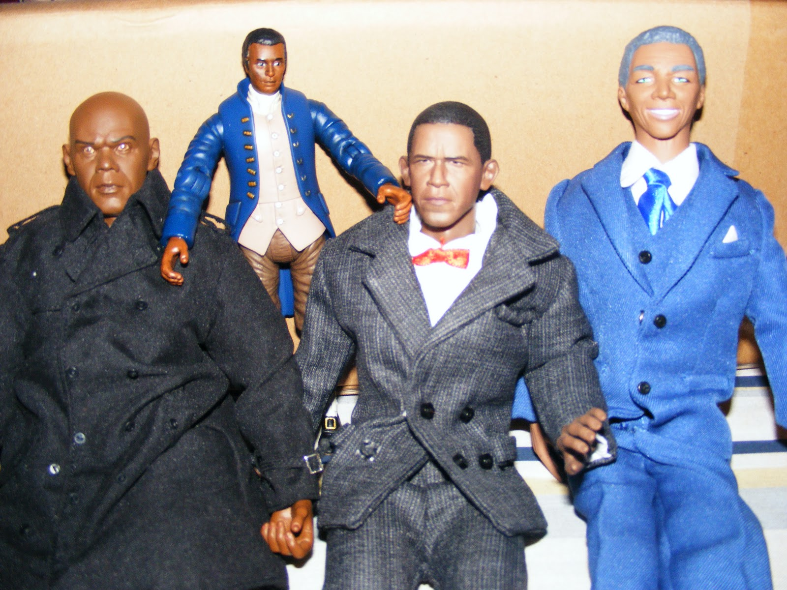 The action figures that have a connection to Martin Luther King's life.