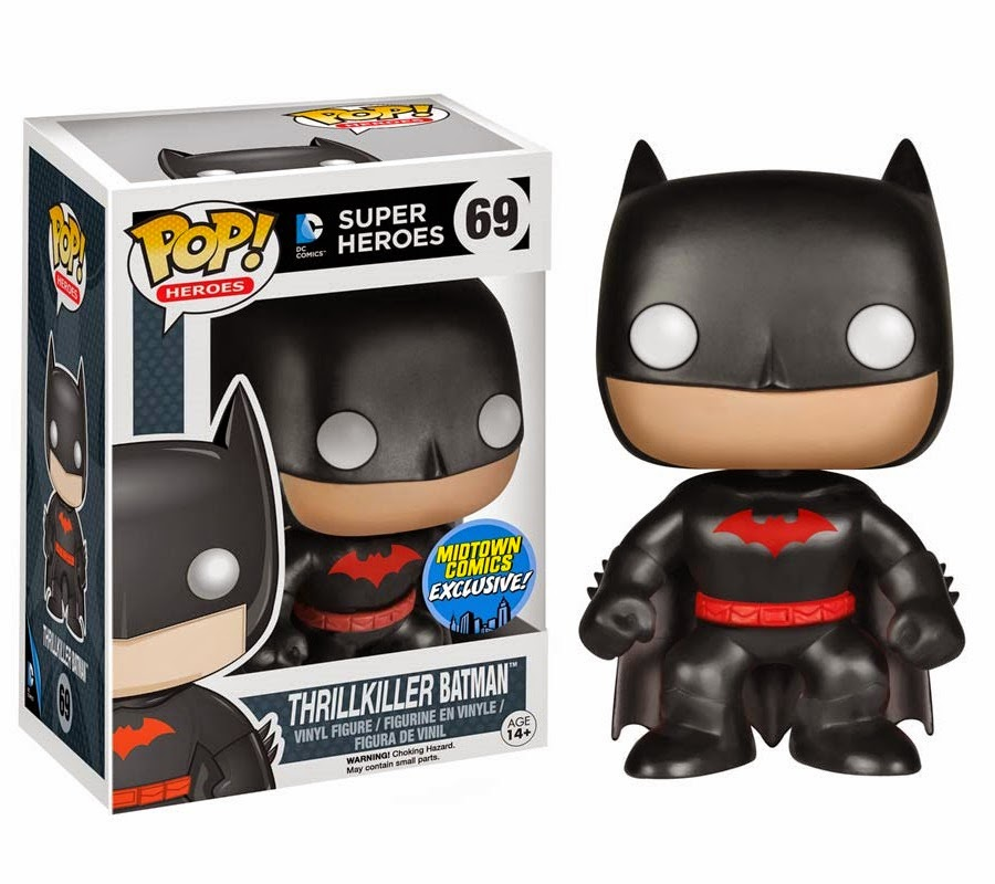 Midtown Comics Exclusive Thrillkiller Batman DC Comics Pop! Heroes Vinyl Figure by Funko
