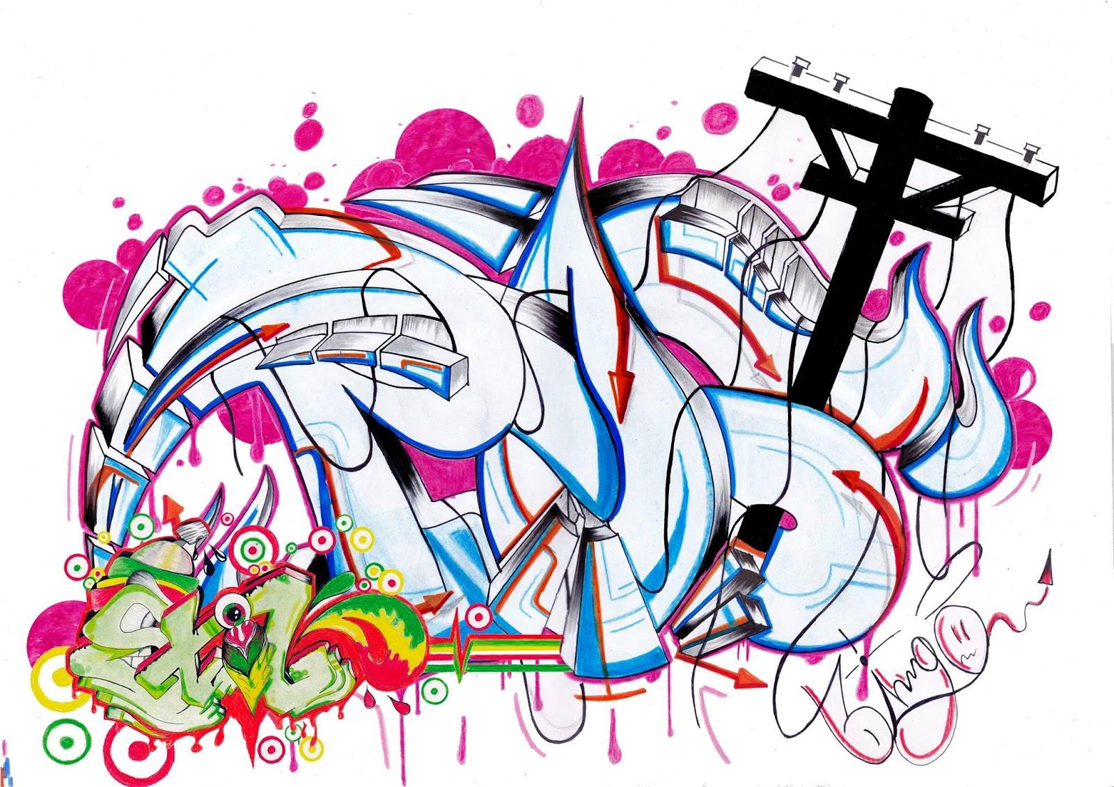 Graffiti post