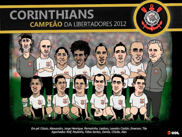 Charge Corinthians Campeão da Libertadores 2012 - Site Uol