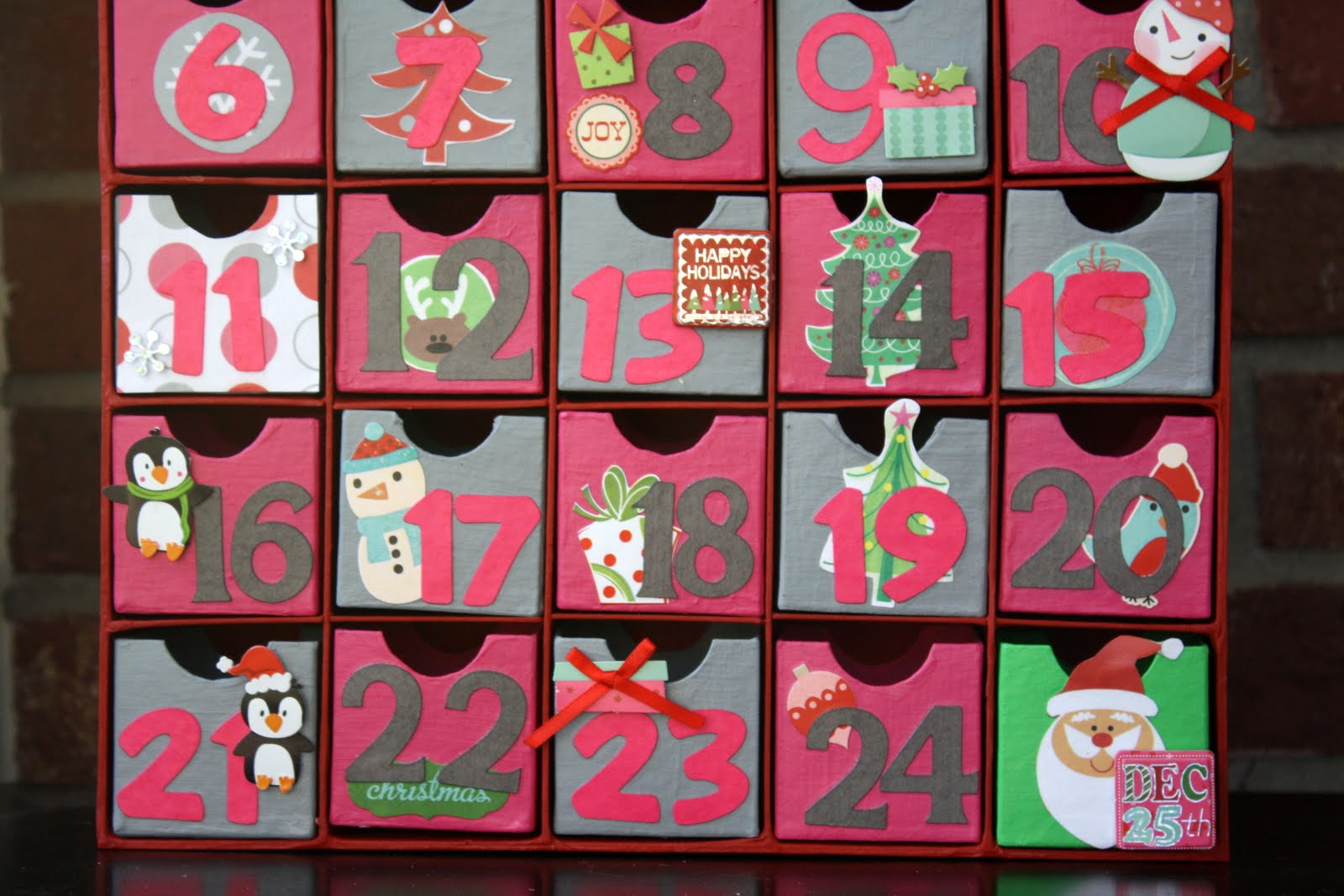 Advent Calendar Self Made : Everyday giggles home made advent calendar