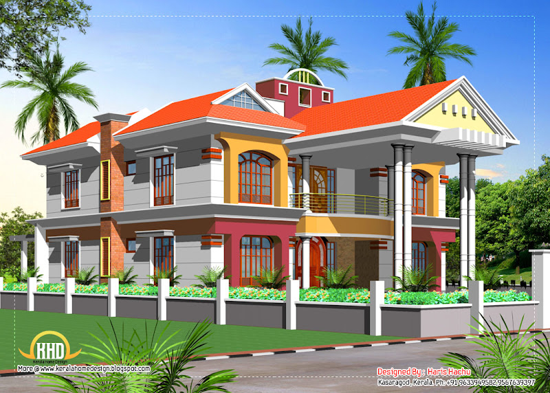 Double story house elevation - March 2012 title=