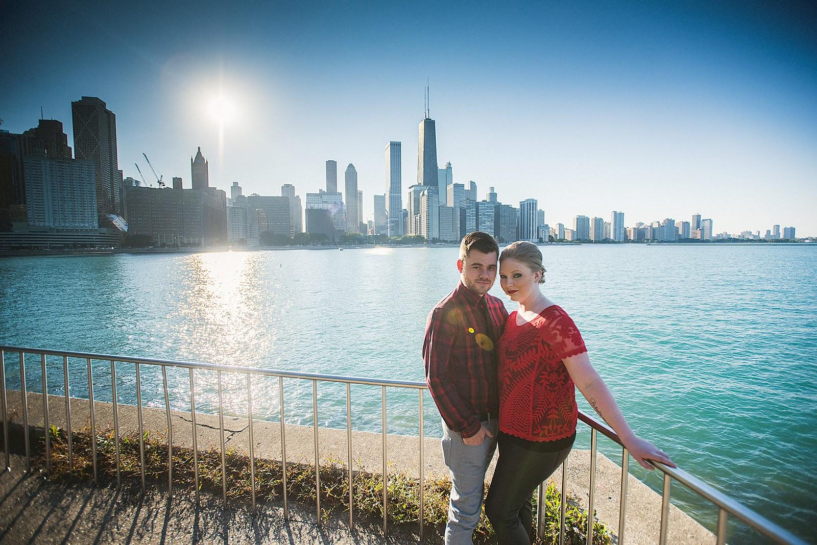 Chicago skyline Natural Light Sun Portrait