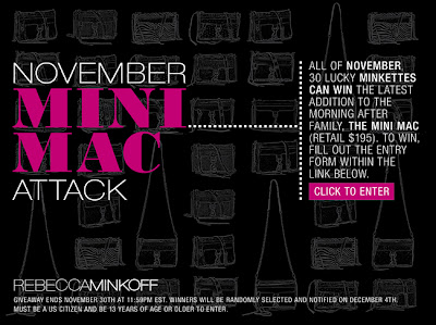  Rebecca Minkoff November Mini MAC Attack Contest!