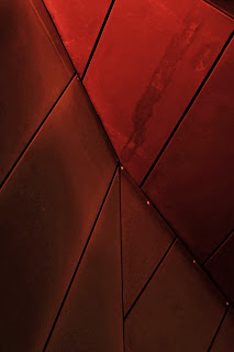wood marsh architecture melbourne australia acca abstract abstraction detail architectural tim macauley night red