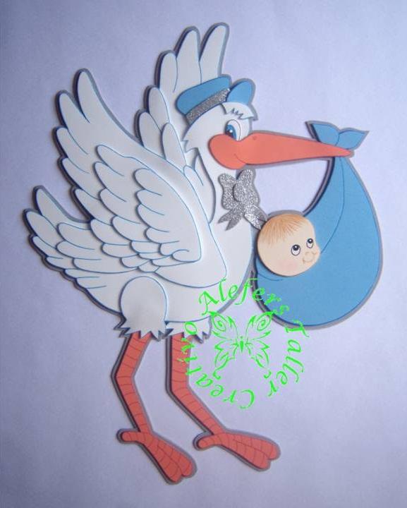Ciguena Con Moldes Ciguenas Bebes En Foami Imagenes Mil On Pinterest