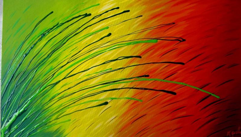 Pinturas cuadros lienzos abstractos colores vivos pintura for Imagenes de cuadros abstractos con acrilicos