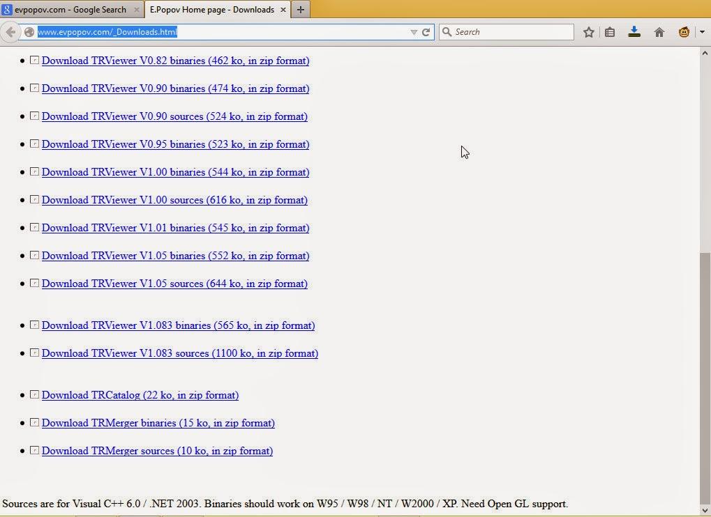 TRViewer source code downloads at evpopov.com