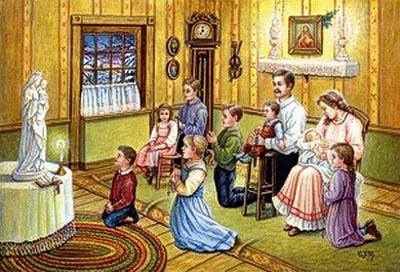 Kinh Mân Côi và gia đình