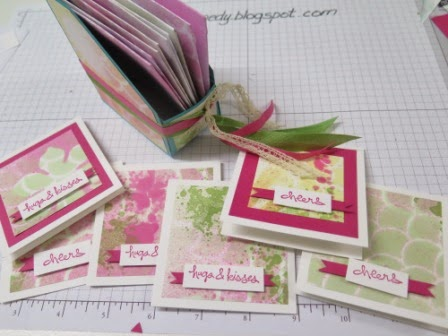 Mini Magazine holder  and cards zena kennedy independent stampin up demonstrator