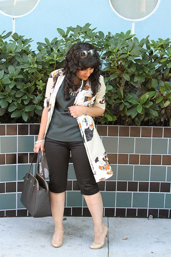 Floral Short Sleeve Trench and City Shorts