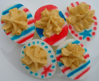 stars and stripes deviled eggs