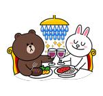 emoticones de parejas cenando
