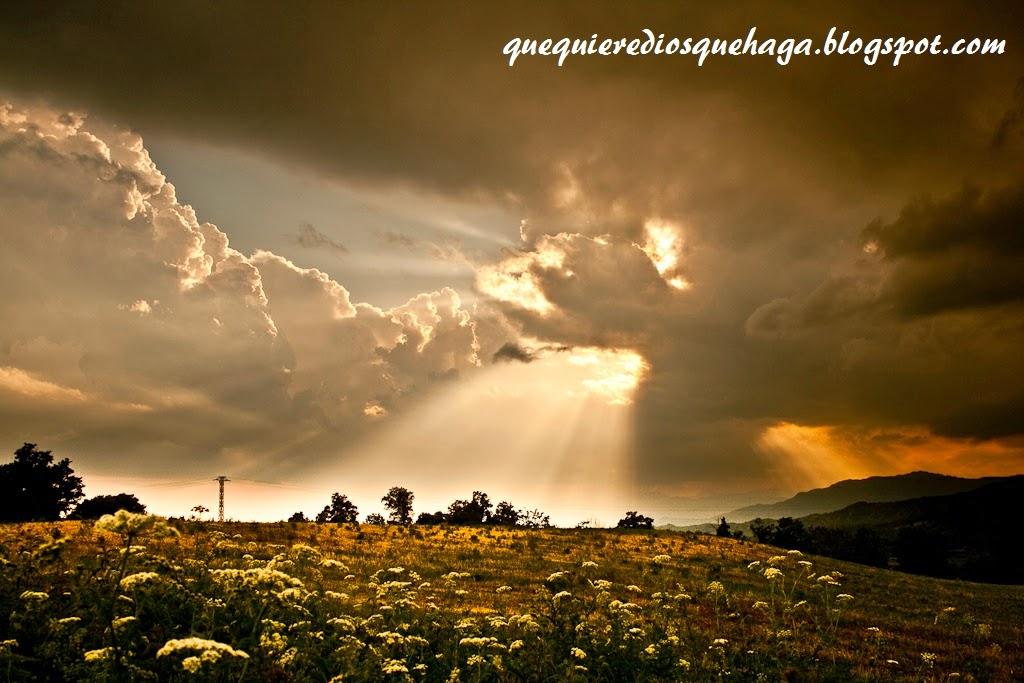dejate iluminar por la luz de Dios