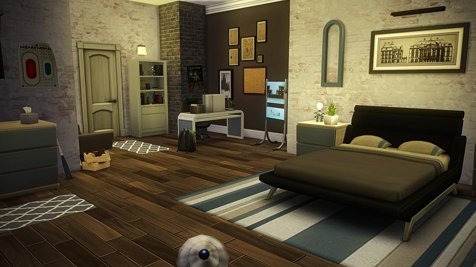 Vila da arte casa moderna the sims 4 pirralho do game for Casas sims 4 modernas