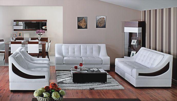 İstikbal mobilya beyaz deri koltuk takımı lux evlerin salonlarını ...