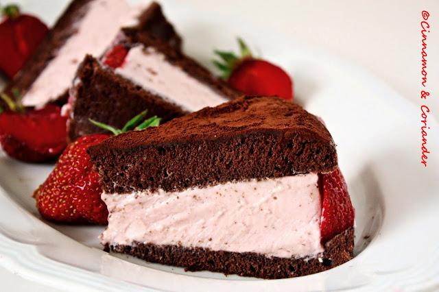 Erdbeer Schoko Trüffel Torte
