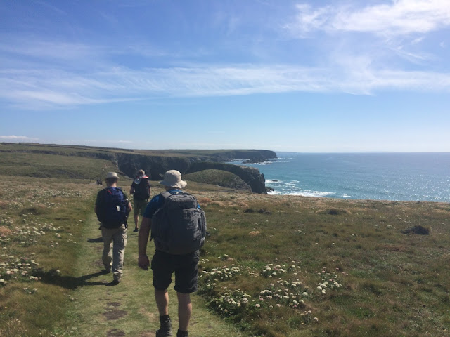 The South West Coast Path, North of Padstow, Cornwall