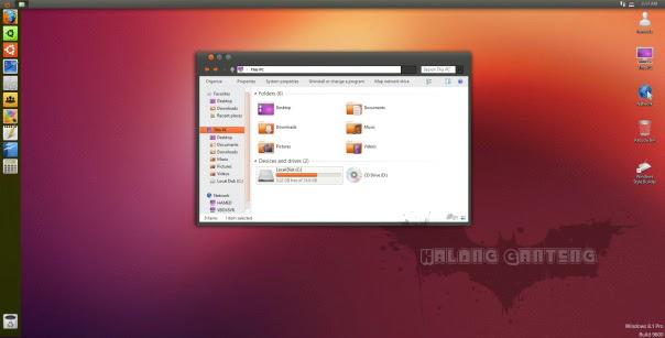 Ubuntu Skin Pack for windows 8/8.1