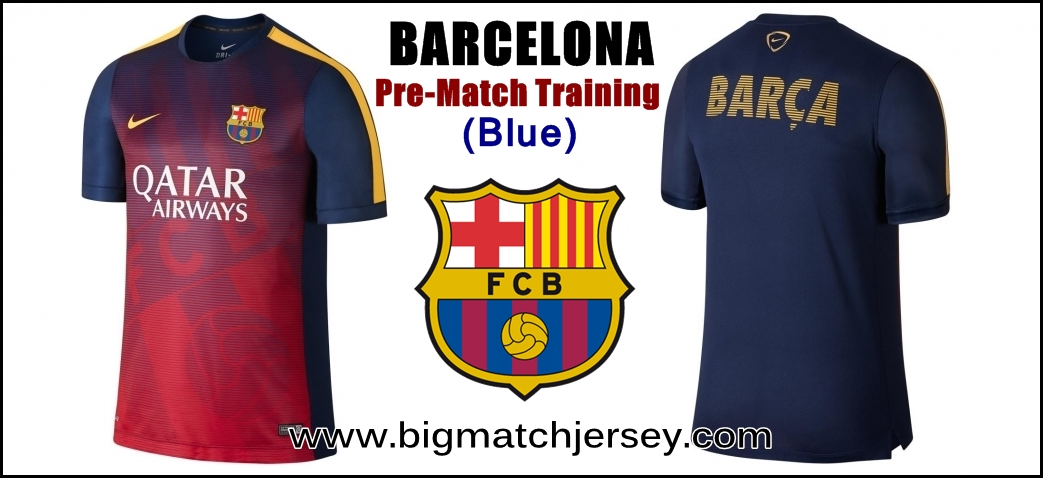 Nike Barcelona FC Blue Squad Prematch Performance Top 2015