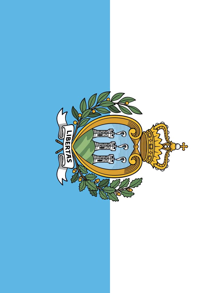 bandera de San Marino para imprimir