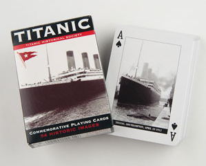 Titanic playing cards