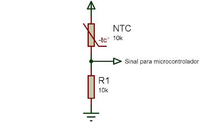 Divisor de tensão termistor NTC 10K