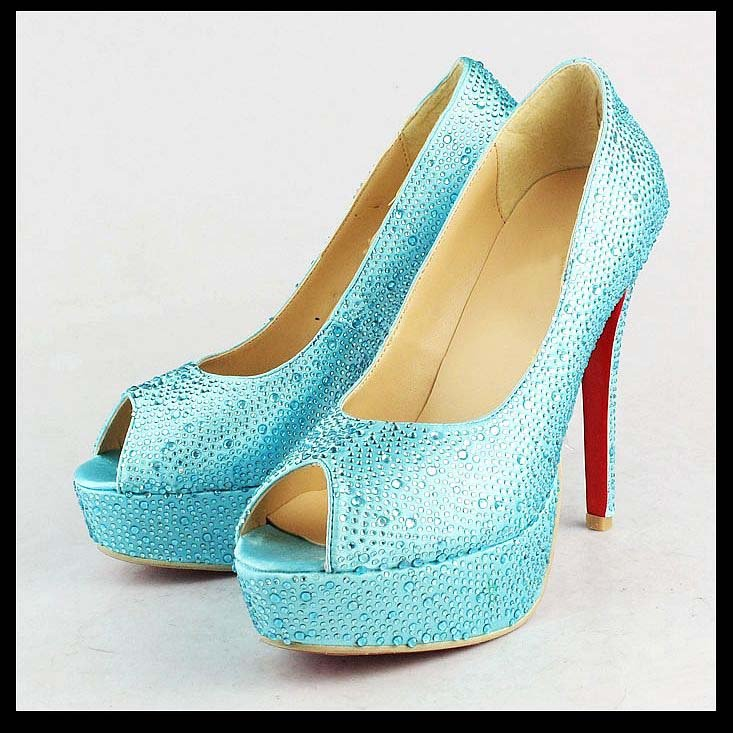 light blue high heel shoes fashionate trends