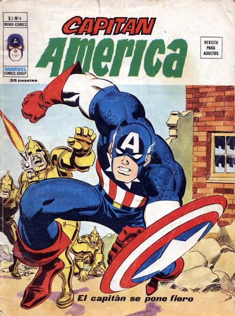 Portada de Capitán América Volumen 3 Nº 4 Ediciones Vértice