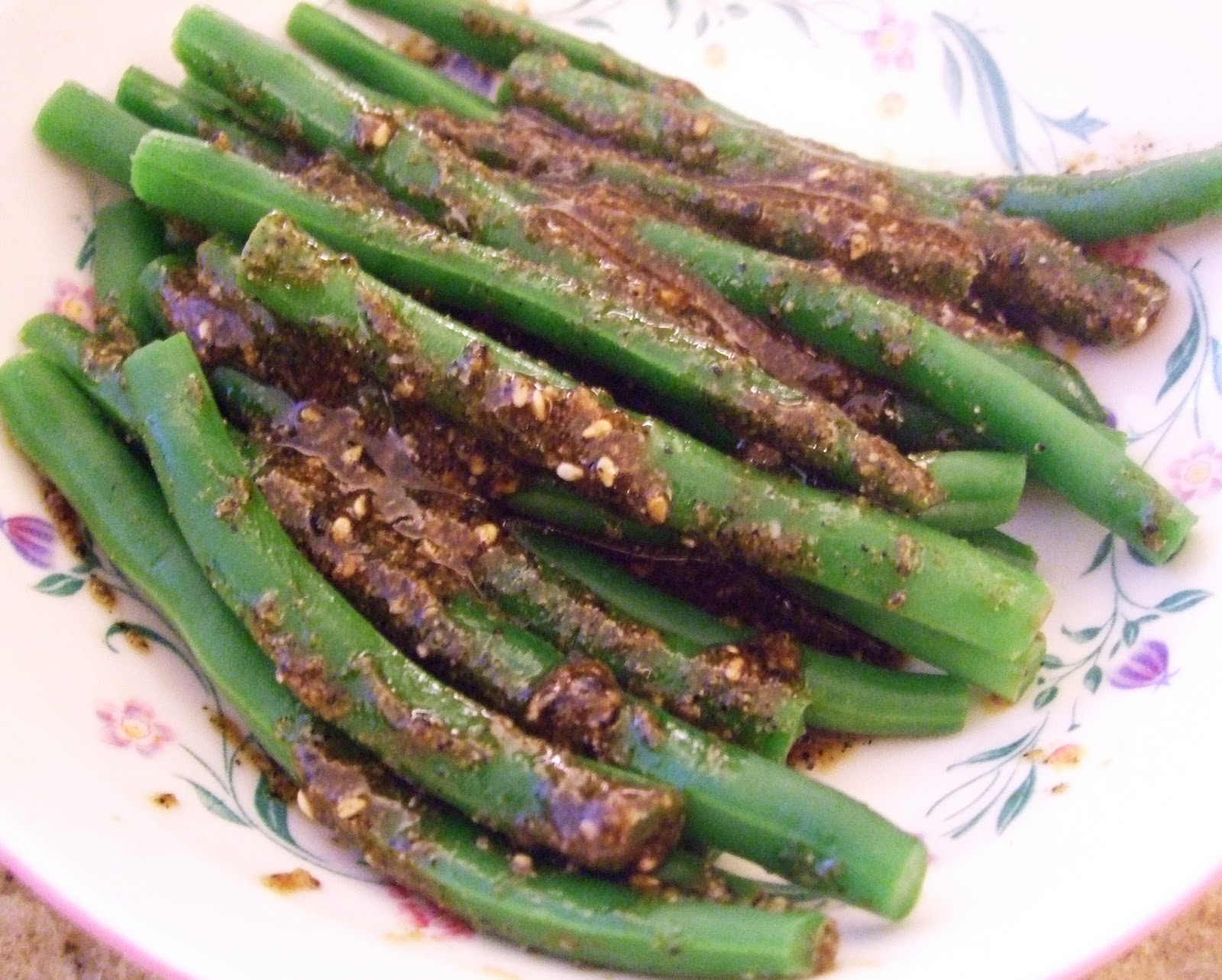 Where the Veggies Are: Green Beans with Toasted Sesame Seeds