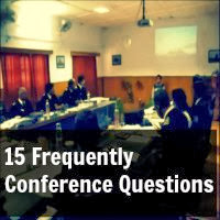 15 Frequently Asked Questions in SSB Conference