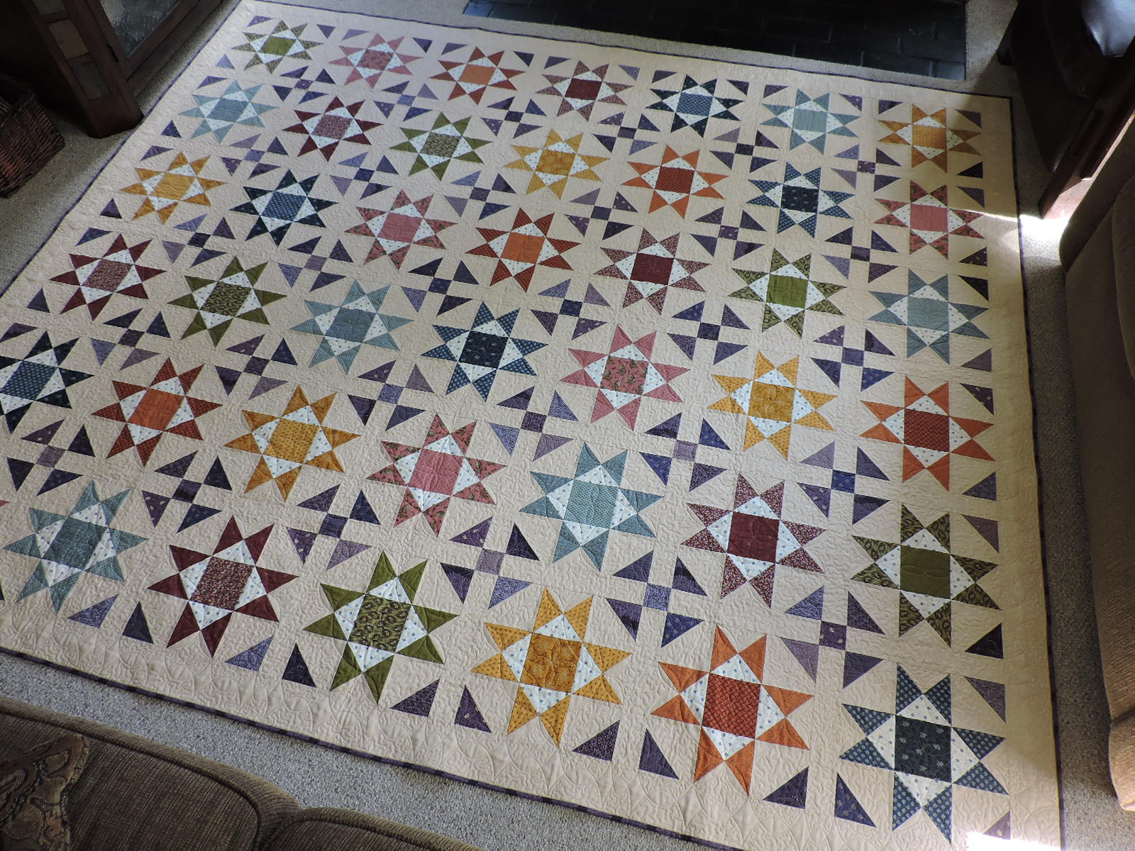 Cotton Cellar: Ohio Star Quilt Final : ohio star quilt shop - Adamdwight.com